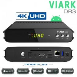 Decodificador de satélite 4K VIARK DRS con Android, APPs y WiFi