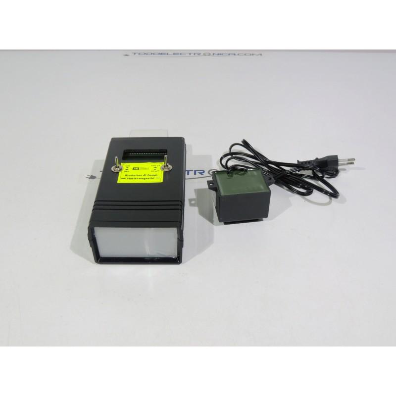 Medidor de campos electromagnéticos con esquema de conexiones incluido