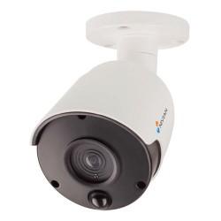 Cámara de vigilancia simulada tipo bullet con LED y detector PIR para exterior
