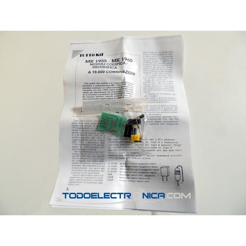 Kit para montar un Módulo codificador con 19000 combinaciones