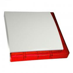 Sirena de exterior grado 3 de 112 dBA con 2 barras LED rojas y batería