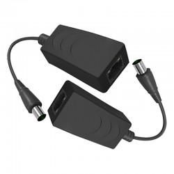 Extensor de vídeo IP por cable coaxial activo hasta 100 Mbps y 200 m