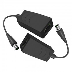 Extensor de vídeo IP por cable coaxial pasivo hasta 100 Mbps y 200 m