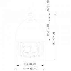 Cámara IP motorizada Dahua exterior de 4 mpx y 3,91~177,7 mm (45X)