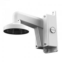 Soporte con caja de conexión y pasador de cables para cámaras domo