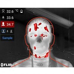 Cámara termográfica Flir E95 para medición de temperatura corporal; IR 464x348