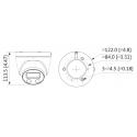 Cámara de vigilancia IP Dahua exterior de 2mpx, 2.8mm y ranura microSD
