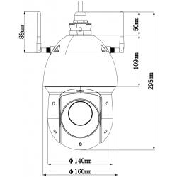 Cámara IP WiFi motorizada Dahua de 2mpx, lente varifocal 4,8~120 mm