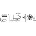 Cámara de vigilancia Hikvision de 4mpx, 2.8~12mm y apta para exterior