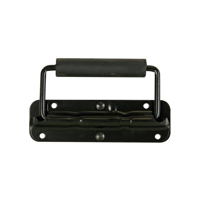 Asa para caja acústica de metal negro de 140 x 40mm con resorte