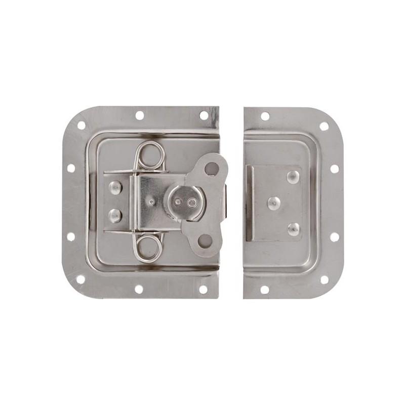 Cierre de metal blanco-gris de 171 x 126mm