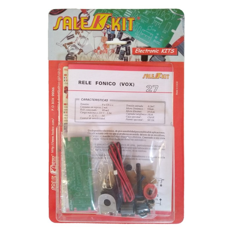 Kit para montar relé fónico (VOX)