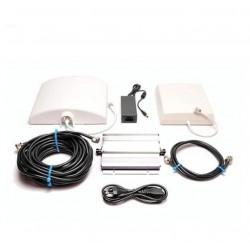 Kit repetidor de cobertura móvil doméstico EGSM 900 / 3G 2100 UMTS. 60dB 300m2