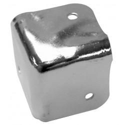 Cantonera para caja acústica de 38 x 38mm x 90° en metal blanco-gris