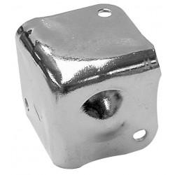 Cantonera para caja acústica de 38 x 38mm x 90° en metal plateado