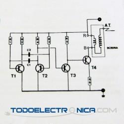 Esquema electrico Kit para montar electrificador de vallas