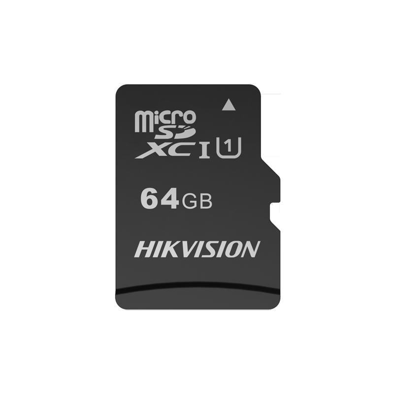 Tarjeta de memoria MicroSD Hikvision con 64GB de capacidad clase 10 U1