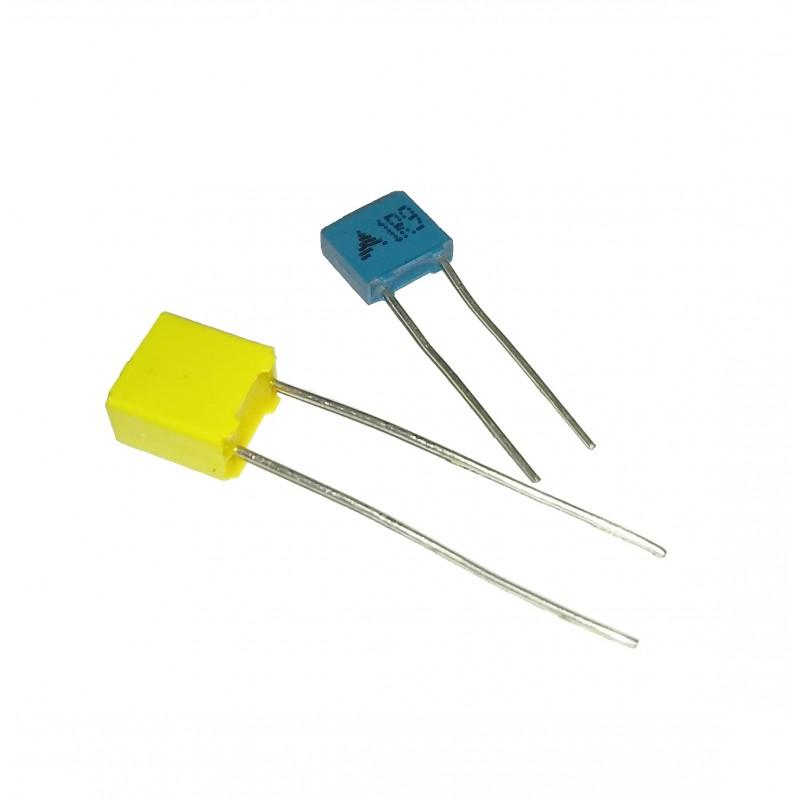 Condensador de poliéster de 100 nF y 63V