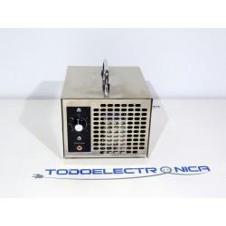 Ozonizador portátil 5000 mg/h con placa cerámica, temporizador y ventilador – Generador de ozono