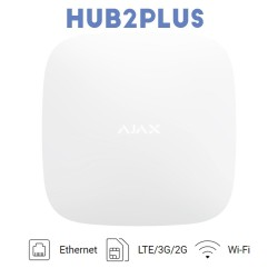 Central de alarma Ajax HUB2PLUS con WiFi, Ethernet, DualSIM GPRS (LTE)