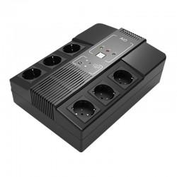 SAI de 600VA/360W con 6 salidas protegidas y batería de 12 V 7 Ah