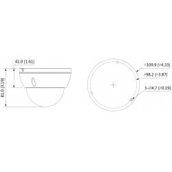 Cámara de vigilancia IP Dahua de 4 mpx y 2.8 mm con ranura MicroSD