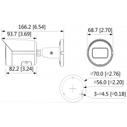 Cámara IP PoE Dahua de 4 mpx, 2.8 mm, IP67 con ranura MicroSD