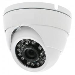 Cámara de vigilancia tipo domo simulada con LEDs (no operativos)