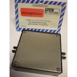 Caja para montaje electrónico con recubrimiento de aluminio 74x74x22 mm