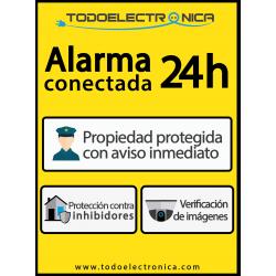 Cartel de alarma fabricado en PVC de 5mm tamaño A4