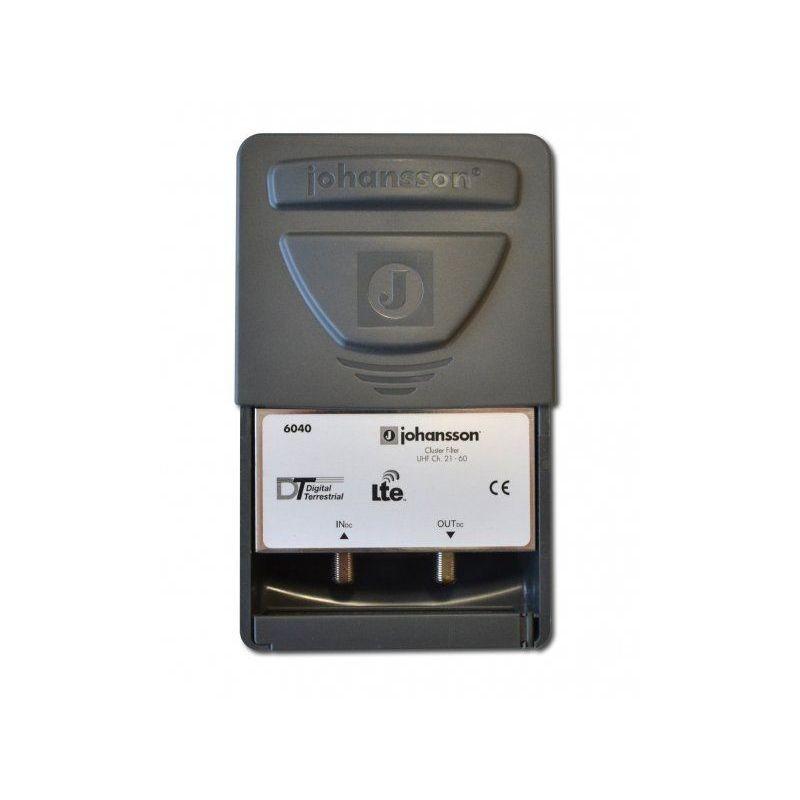 Filtro LTE 4G y 5G para exterior 35dB, 470-694 MHz Johansson