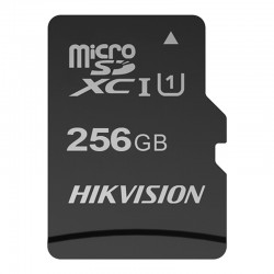 Tarjeta de memoria MicroSD Hikvision con 256GB de capacidad clase 10U1