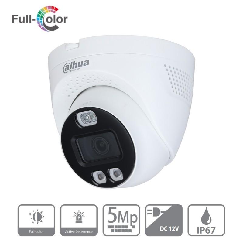 Cámara de vigilancia Dahua de 5 mpx/2.8 mm con flash y sirena