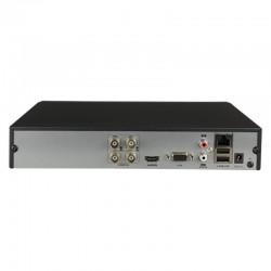 Grabador Hikvision para 4 cámaras de vigilancia hasta 8 mpx con audio sobre coax