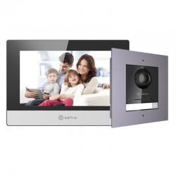 Kit de videoportero IP Safire de monitor y placa con cámara de 2 mpx