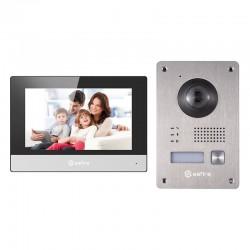 Kit videoportero de 2 hilos a IP con placa y monitor con conversor