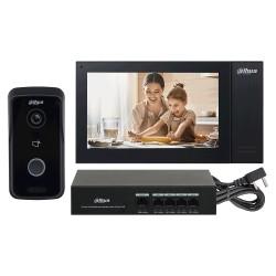 Kit videoportero IP Dahua KTP02 con monitor, placa y switch PoE