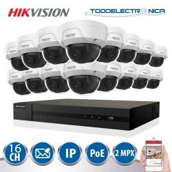 Kit de vigilancia IP PoE de 16 cámaras de seguridad