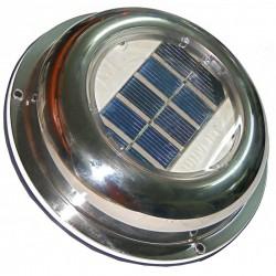 Extractor-Ventilador solar con cubierta de acero inoxidable C-0703