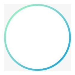Pareja de círculos luminosos de neón azul con diámetro 26 cm 12V 0.5A