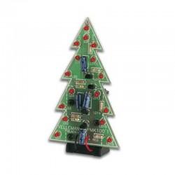 Árbol de navidad con 16 diodos led intermitentes (Versión montada)