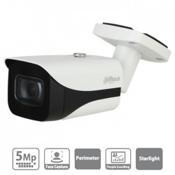 Cámara de vigilancia IP Dahua de 5 mpx, 2.8 mm con LEDs blancos de 50m