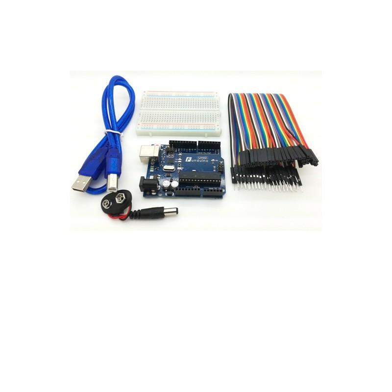 Kit Funduino UNO R3 primeros pasos Atmega328 compatible con Arduino