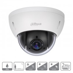 Cámara de vigilancia motorizada SD22204-GC-LB Dahua de 2 mpx