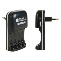 Cargador para baterías NIMH con salida USB - VLE1
