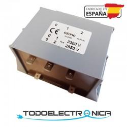 Transformador para lámparas de ozono 2850-3300V con faston