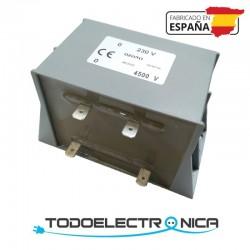 Transformador de lámparas de ozono 4500V con conector faston