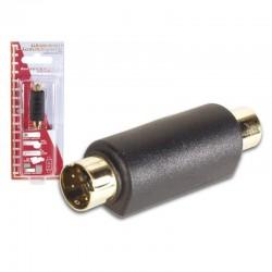 Adaptador 4 polos mini DIN macho a conector RCA hembra dorado