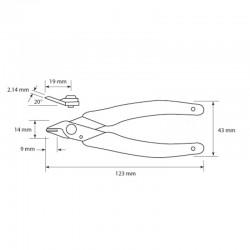 Dimensiones Alicate JBC 140