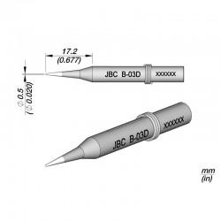 Punta 0.5 mm JBC B-03D para Soldador JBC 14ST